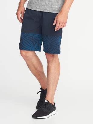 Old Navy Go-Dry Color-Block Run Shorts for Men - 9-inch inseam
