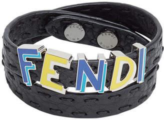 Fendi logo wrap-around cuff