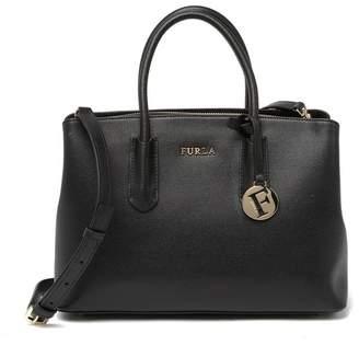 Furla Tessa Small Leather Satchel Bag