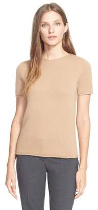 Theory Tolleree Short Sleeve Cashmere Pullover $255 thestylecure.com