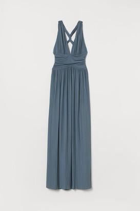 H&M Pleated Maxi Dress - Blue