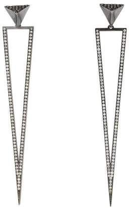 Ileana Makri 18K Diamond Triangle Drop Earrings