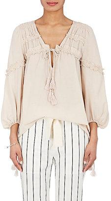 Derek Lam 10 Crosby Women's Ruffle-Trimmed Cotton-Silk Voile Blouse $350 thestylecure.com