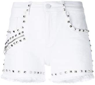 Versace studded denim shorts