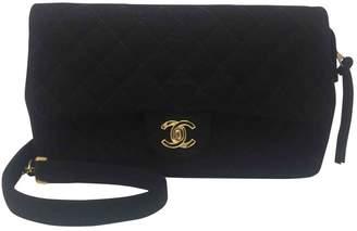 Chanel Vintage Black Wool Backpacks