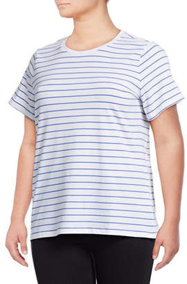 Lord & Taylor Petite Plus Striped Short-Sleeve Tee