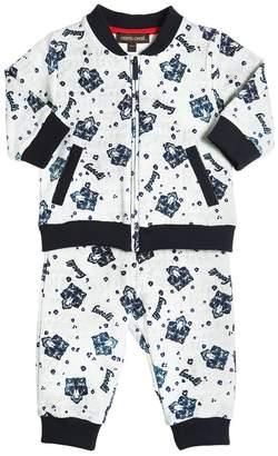 Roberto Cavalli Zip Up Cotton Sweatshirt & Sweatpants