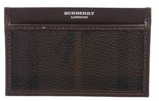 Burberry Haymarket Check Card Holder