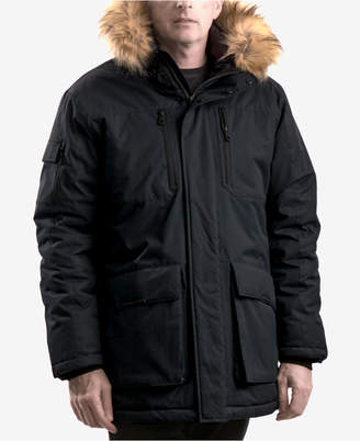 Hawke & Co Men's Logan Faux-Fur-Trim Parka