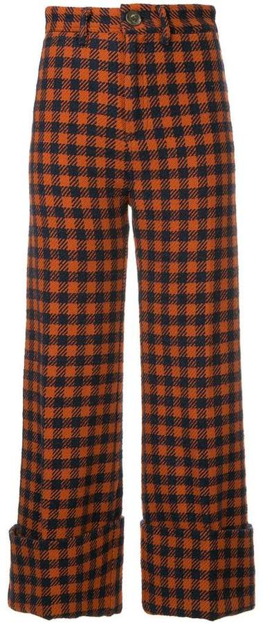 pareo checked trousers