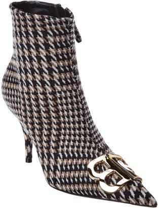 Balenciaga Bb Houndstooth Wool Bootie