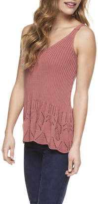 Dex Scalopped Sweater Tank