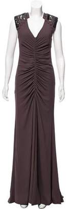 Carlos Miele Embellished Sleeveless Gown