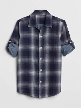 Gap Double-Weave Convertible Shirt