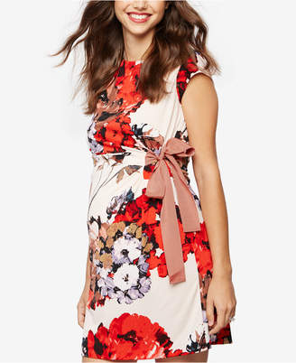 Taylor Maternity Floral-Print Dress $148 thestylecure.com