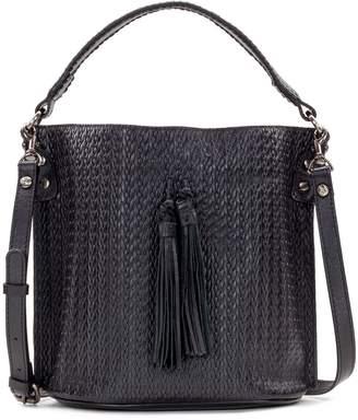 Patricia Nash Leather Embossed Woven Bucket Bag - Otavia