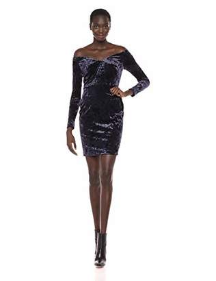 Calvin Klein Women's Long Sleeve Crushed Velvet Sheath