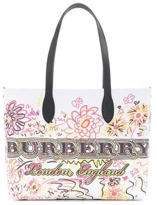 Burberry (バーバリー) - Burberry The Doodle Medium reversible shopper