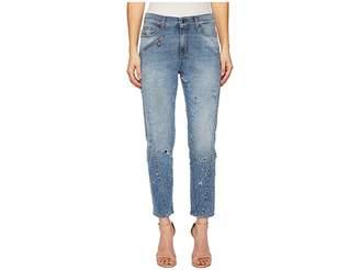 Versace Distressed Denim in Indigo Women's Jeans