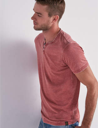Lucky Brand VENICE BURNOUT NOTCH TEE
