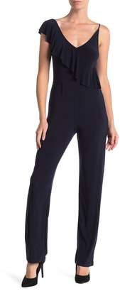 Bebe Ruffle Short Sleeve Jumpsuit