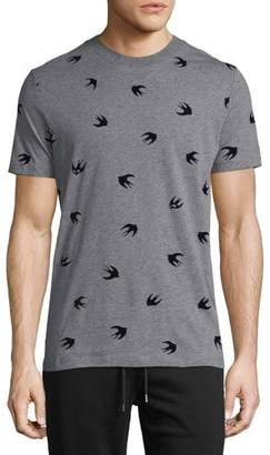 McQ Sparrow-Print Crewneck T-Shirt