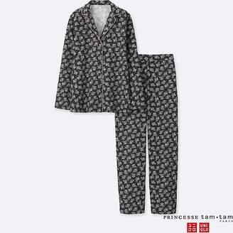 Uniqlo Women's Princesse Tam.tam Flannel Long-sleeve Pajamas