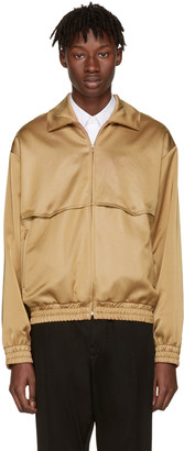 CMMN SWDN Camel Rodeo Track Jacket $475 thestylecure.com