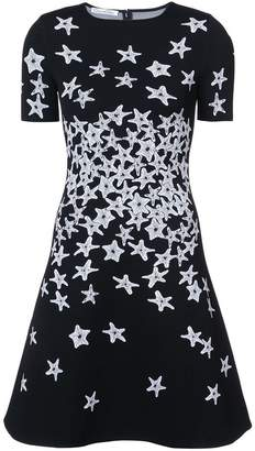 Oscar de la Renta starfish-print flared dress
