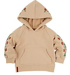 Haus of JR Kids' Appliquéd French Terry Hoodie-Sand