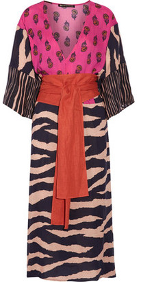 Vix Lanai Belted Printed Voile Dress $268 thestylecure.com