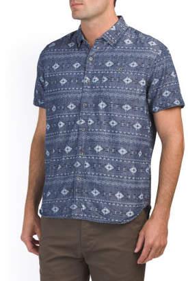 Short Sleeve Batik Print Shirt
