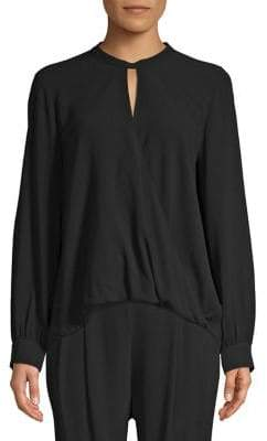 Eileen Fisher Mockneck Silk Top