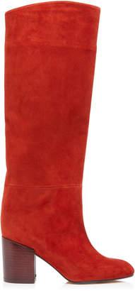 Stuart Weitzman Tubo Shaft Suede Knee Boots