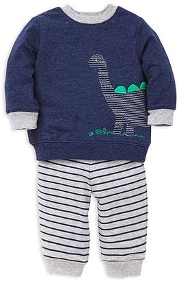Little Me Boys' French Terry Dino Sweatshirt & Striped Jogger Pants Set - Baby