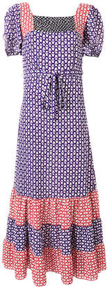 Duro Olowu novelty print panelled dress