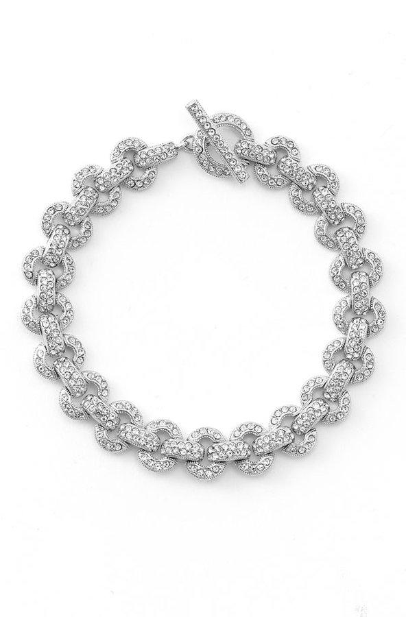 Nadri Open Circle Link Bracelet