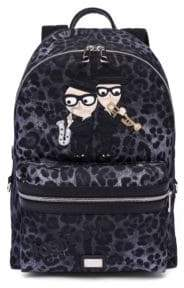 Dolce & Gabbana Leopard Printed Backpack