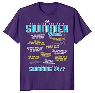 You Know You're A Swimmer When Funny Swim T Shirt