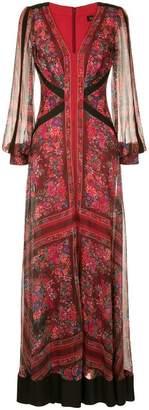 Tadashi Shoji floral printed evening dress