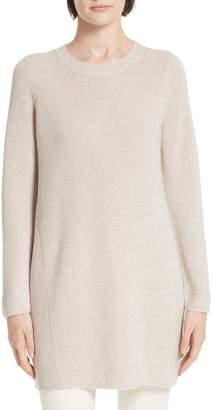 Eileen Fisher Round Neck Merino Wool Tunic