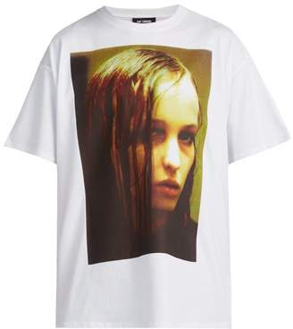 Raf Simons - Christiane F. Photographic Print Cotton T Shirt - Mens - White