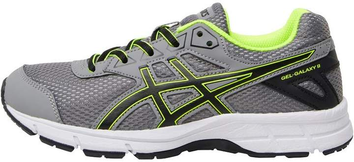 Junior Boys Gel Galaxy 9 GS Neutral Running Shoes Aluminium/Black/Safety Yellow