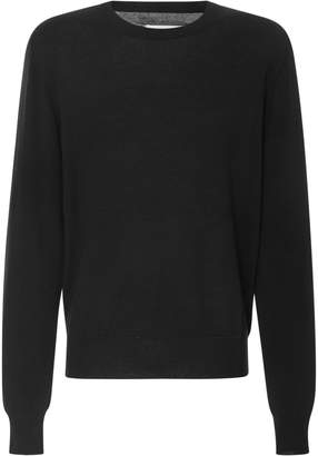 Maison Margiela Paneled Wool And Cotton-Blend Sweater