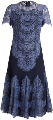 Jonathan Simkhai Godet-detail lace-panel dress