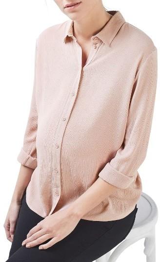 TopshopWomen's Topshop Tie Back Maternity Shirt