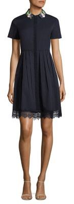 Elie Tahari Samiyah Embellished Pleated Shirtdress $348 thestylecure.com