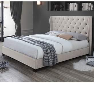 Oat White Diamond Queen Bed & Mattress