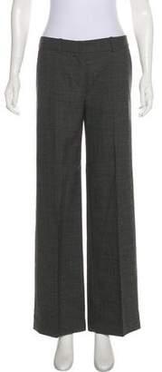 Chloé Wool Mid-Rise Wide-Leg Pants