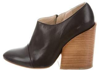 Chloé Leather Pointed-Toe Booties